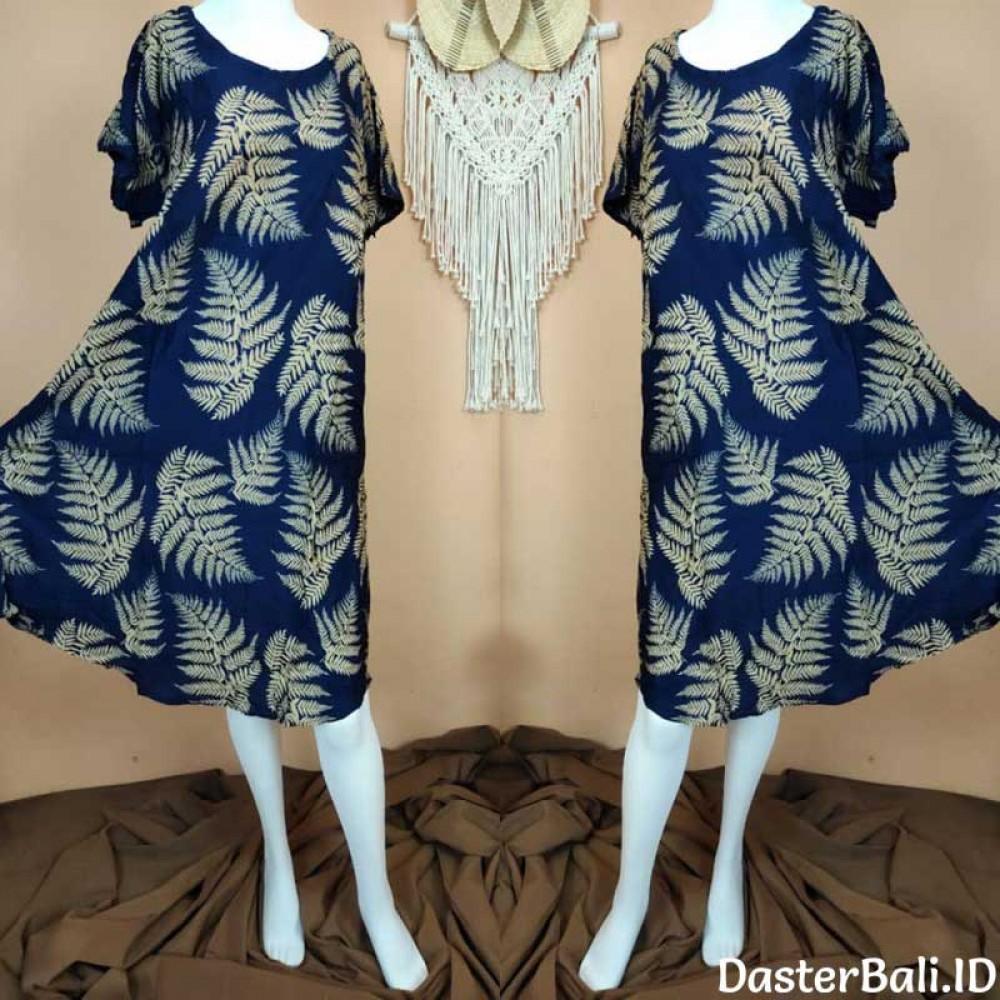 Palm Frond Motif Dress