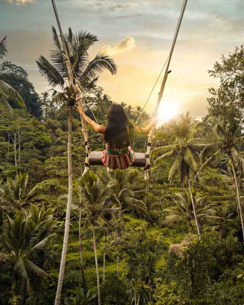 Swing Overlooks to Tegalalang Rice Terrace