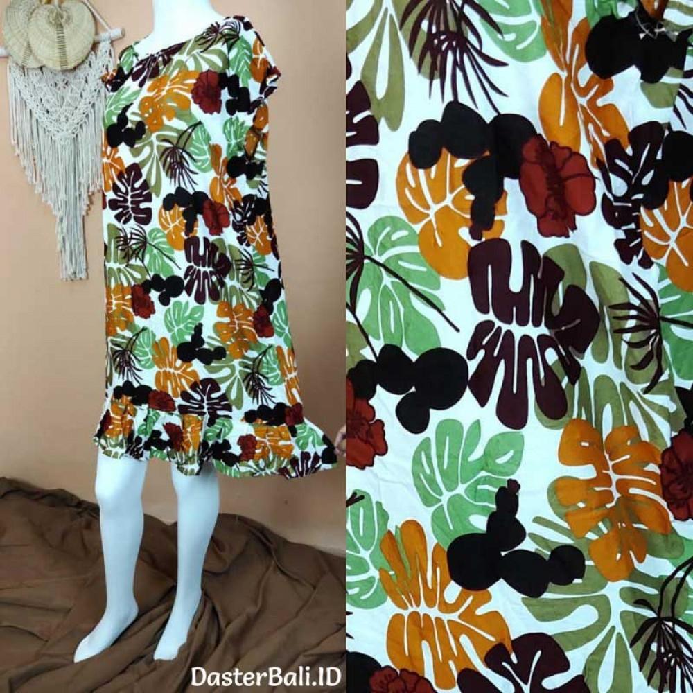 Unique Foliage Motif Dress