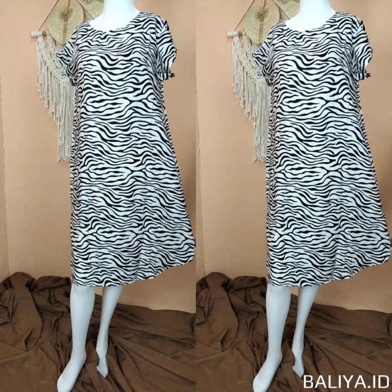 Daster Payung Dress Motif Zebra