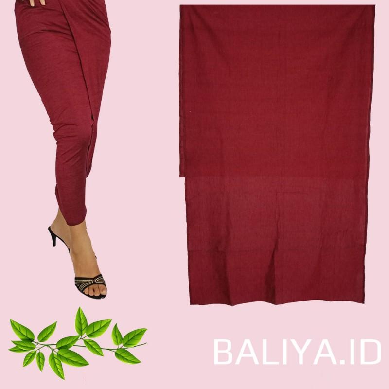 Endek Bali polos warna Merah