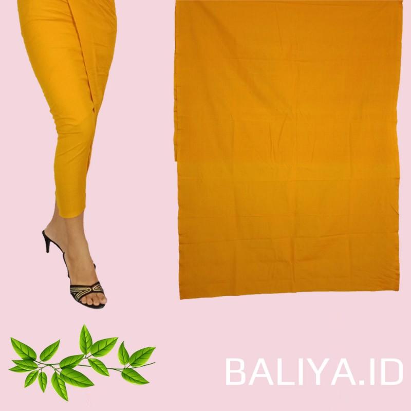 Kamben Endek Bali Polos Warna Kuning