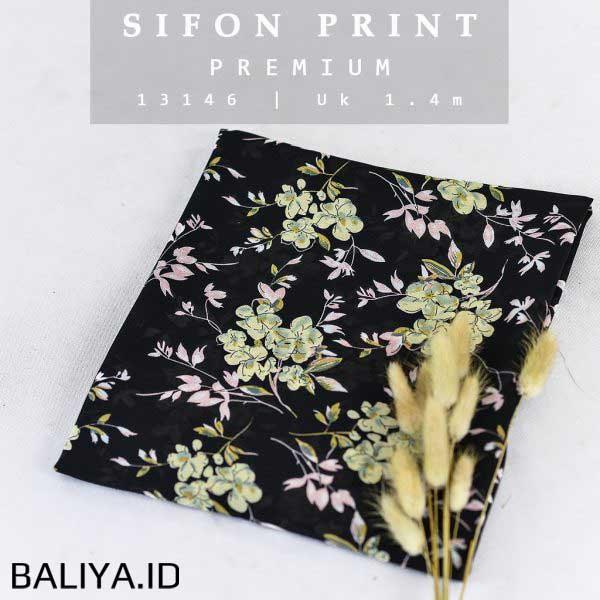 Kebaya Bahan Sifon Motif Print Cantik