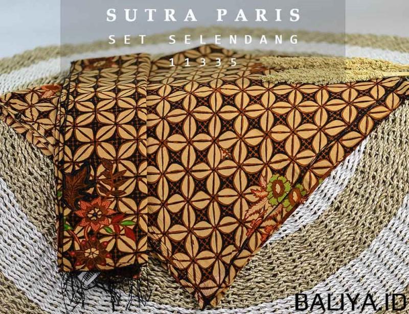 Set Kain Sutra Paris Lembaran dan Selendang