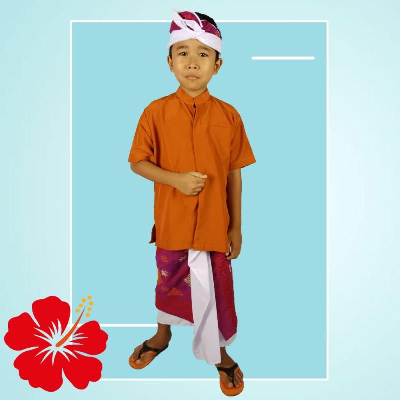 Pakaian Adat Anak Pria Set Safari Udeng Kamen Jadi