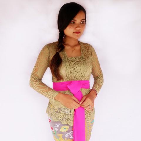 Kebaya Jadi Khas Bali Model Bet Warna Hijau Tosca