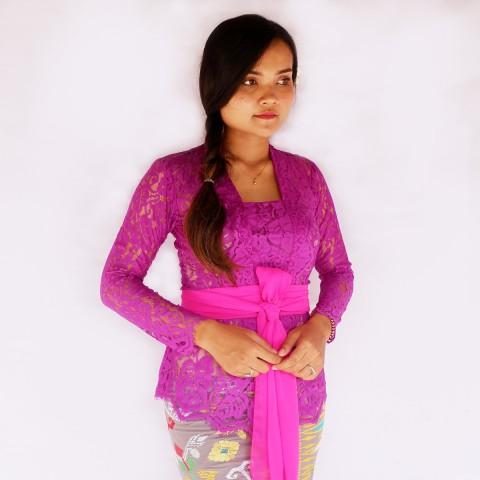 Kebaya Jadi Khas Bali Model Bet Warna Ungu