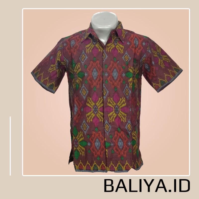 Kemeja Pria Bahan Endek Bali