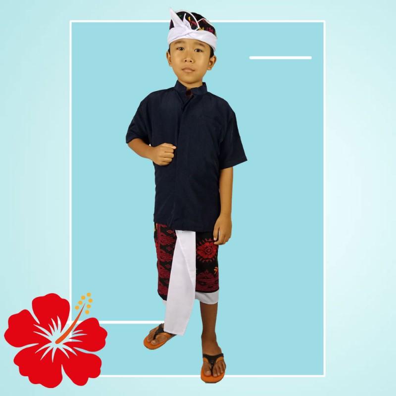 Set Pakaian Adat Bali Untuk Anak Pria / Cowok Terbaru Murah