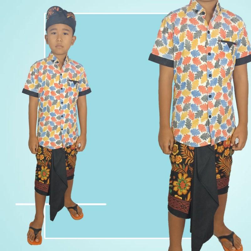 Set saput udeng Anak 9tahun motif Batik