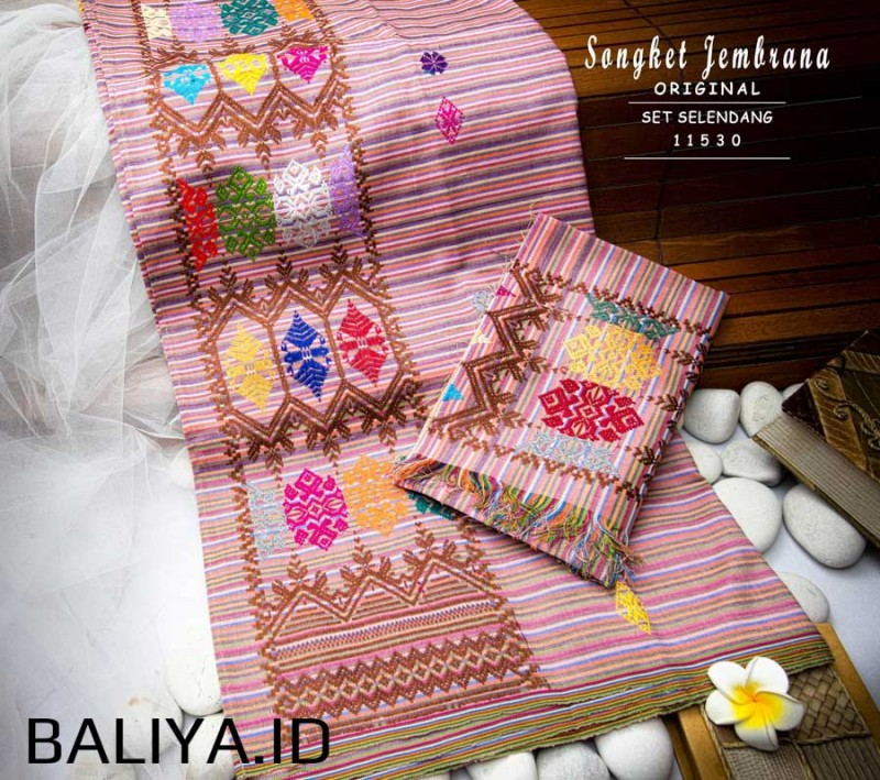 Tenun Songket Negara Bali + Selendang Lebar