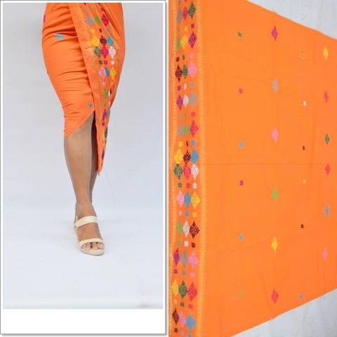 Tenun Songket Singaraja Warna Orange