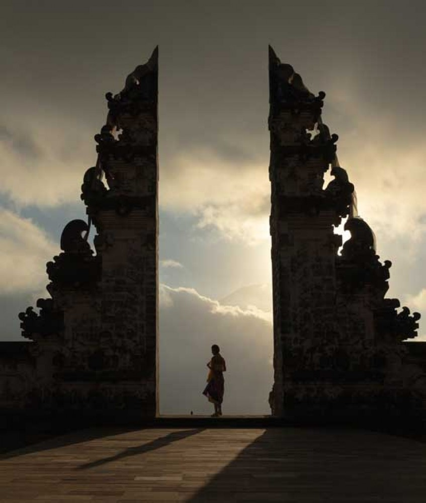 Beautiful Sunset View at Lempuyang Temple