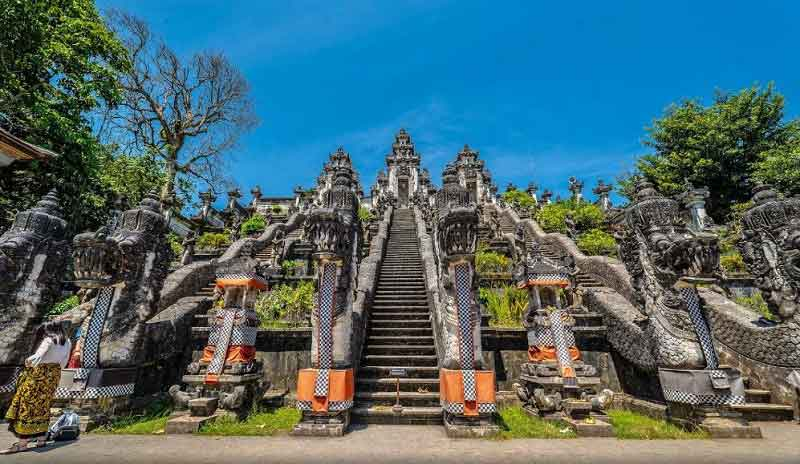 Lempuyang Sacred Temple Bali - Pujawali Day and Religious Ceremony