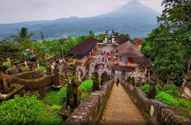 Layout of Lempuyang Temple