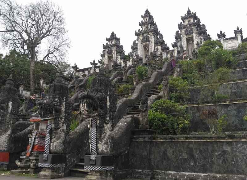 Balinese Stupendous Architectures in Lempuyang Temple