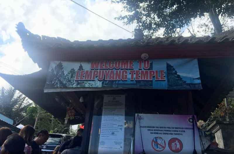 Entrance Fee in Wonderful Lempuyang Temple Bali