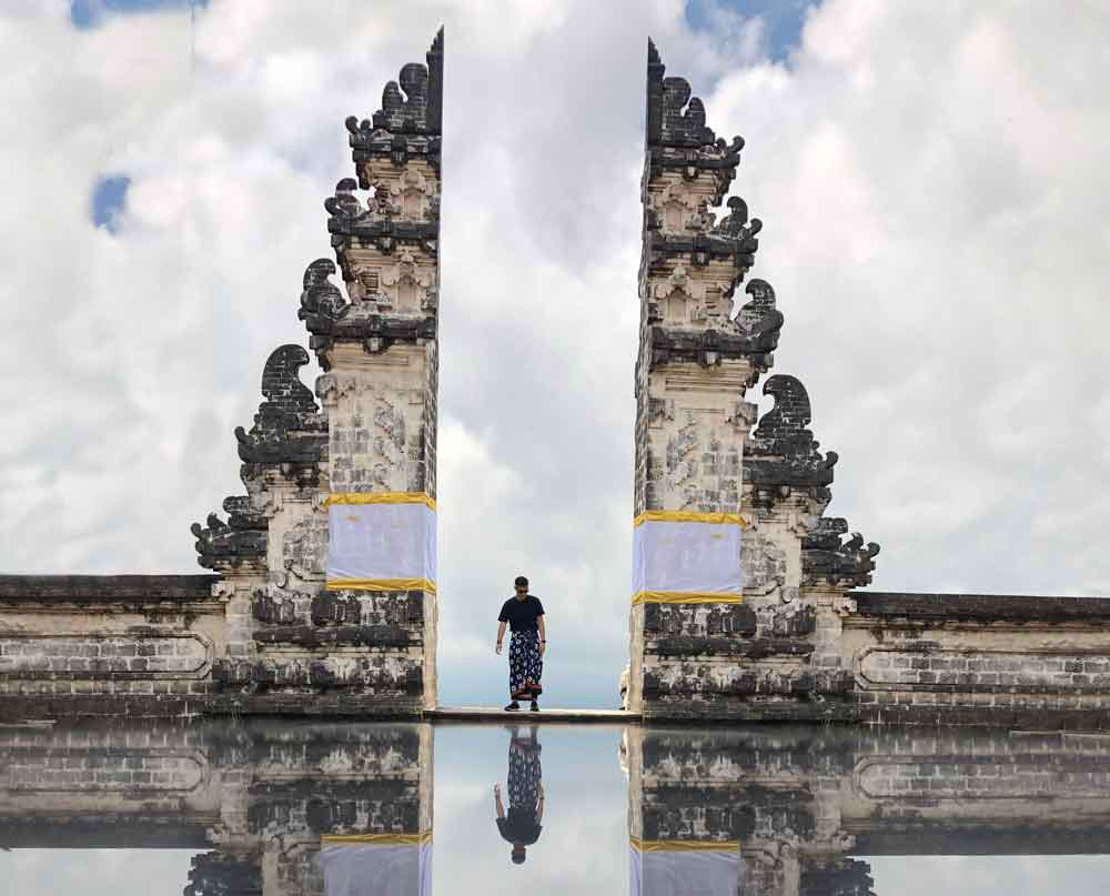 Water Reflection in Lempuyang Temple