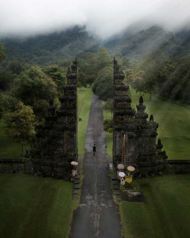 Bali Gate with Green Nature