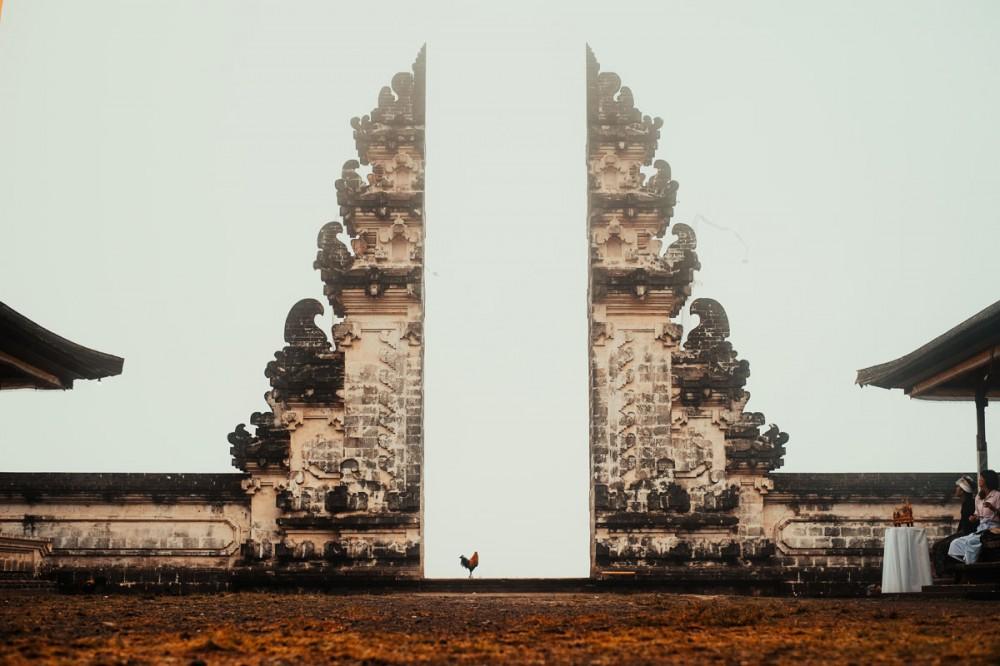 Split Gate at Lempuyang Temple