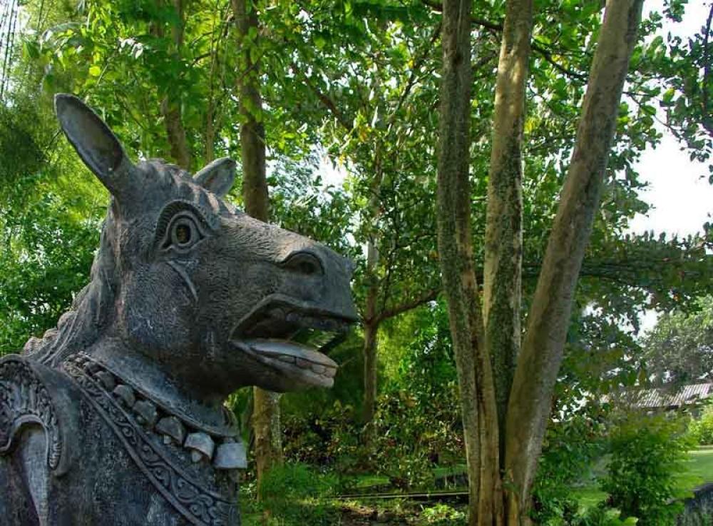 Traditional Statue at Tirta Gangga Water Palace