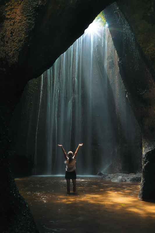 Unique Tukad Cepung Waterfall in Bali 1