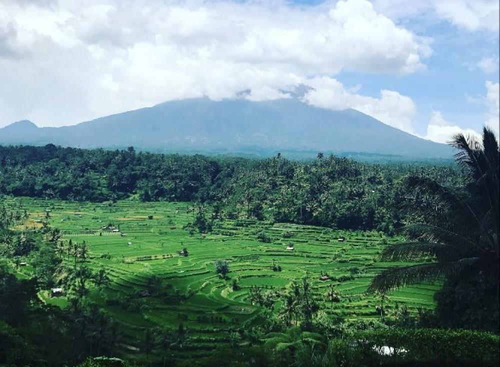 Enjoy Lunch Overlooking to Mount Agung at Mahagiri Panoramic Restaurant