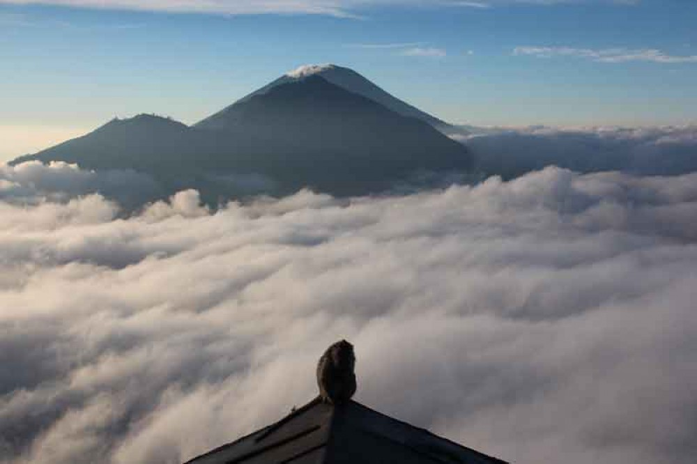 Relax Hot Spring After Trekking Mount Batur
