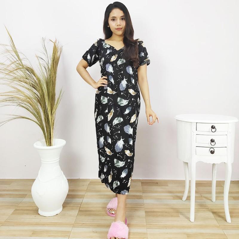 Daster Bali Model Zara Motif Bulu