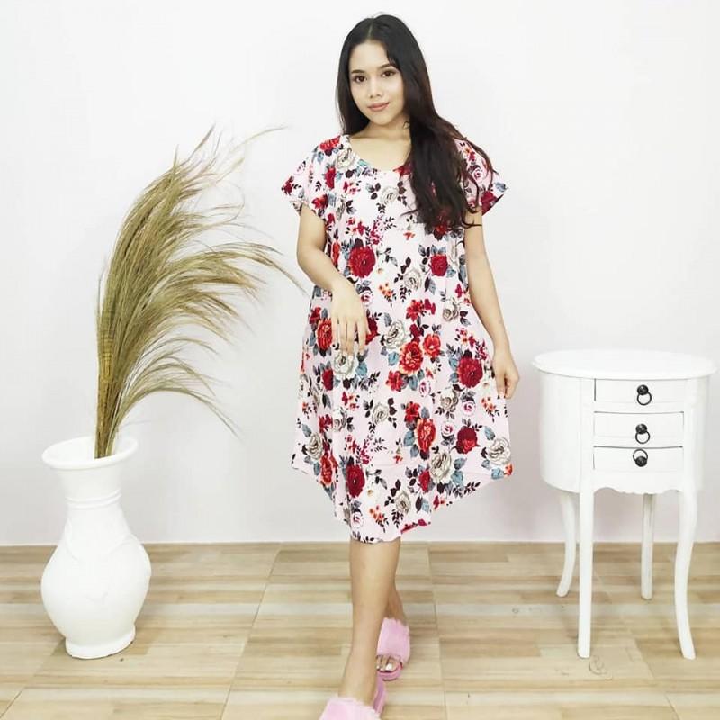 Baju Daster Untuk Remaja Model Payung Motif Mawar