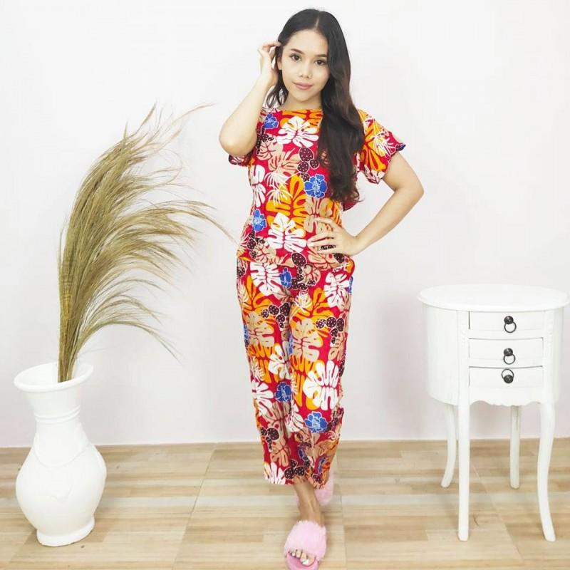 Piyama Wanita Model Lengan Pendek