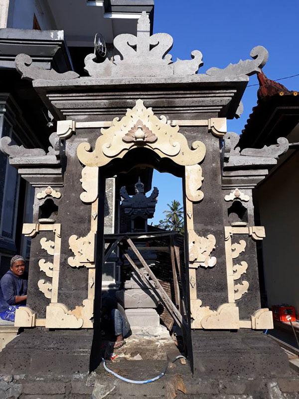 Angkul Angkul Batu Alam Dengan Konsep Style Bali