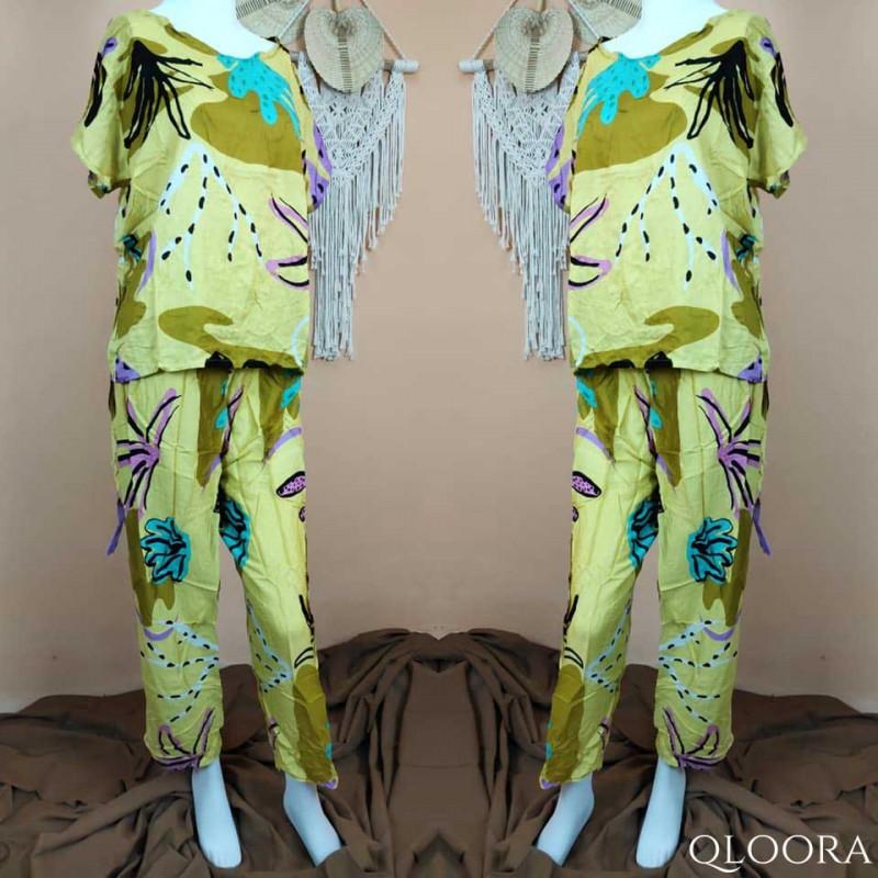 Baju Piyama Wanita Terbaru Motif Kaktus