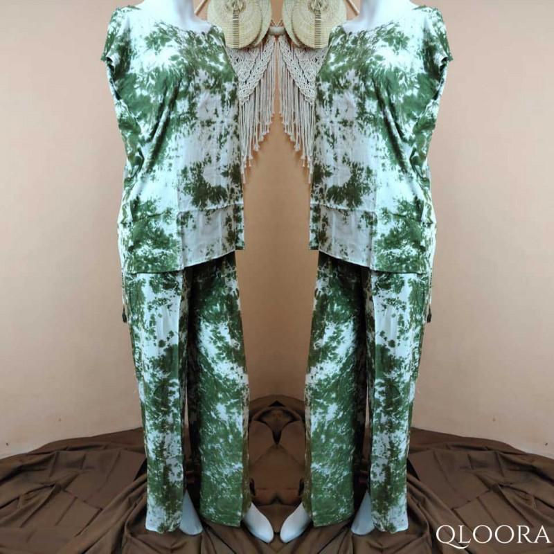 Baju Tidur Piyama Celana Motif Tie Dye