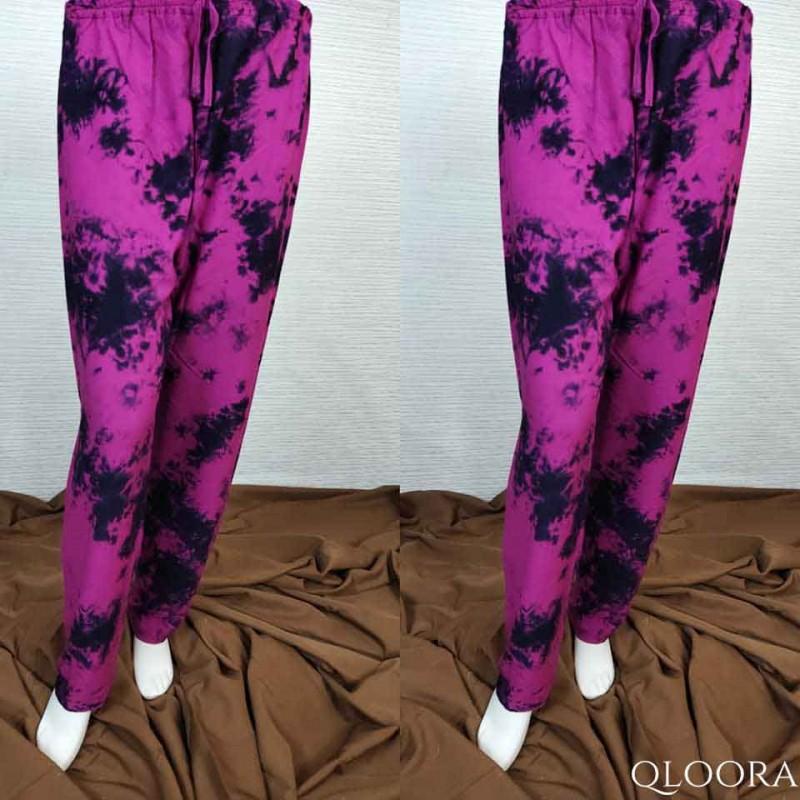 Celana Kulot Wanita Motif Tie Dye