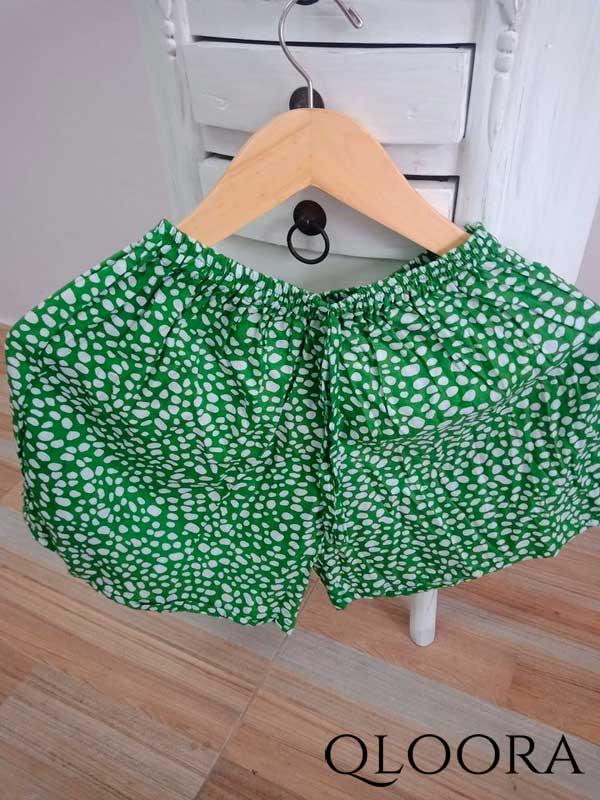 Celana Pendek Wanita Motif Polkadot