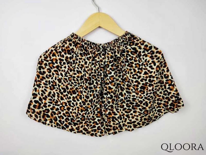 Celana Pendek Motif Leopard Wanita