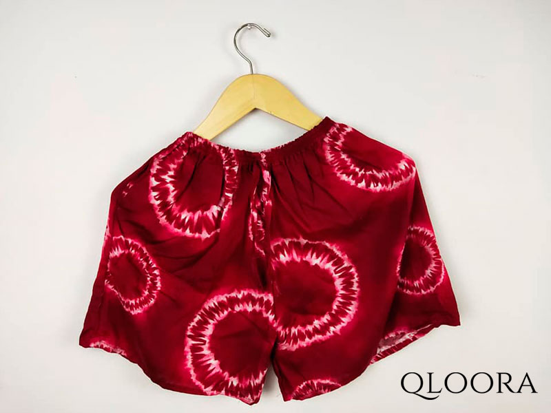 Celana Pendek Wanita Jumbo Motif Loreng