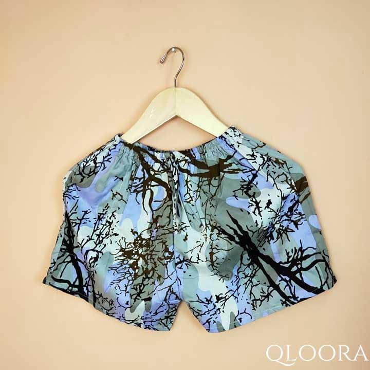 Celana Pendek Wanita Rayon Motif Akar
