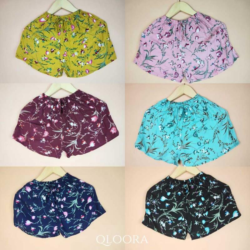 Celana Pendek Wanita Murah Grosir Motif Bunga