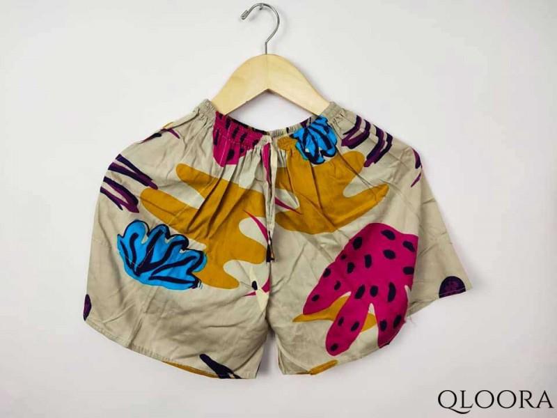 Celana Wanita Bahan Rayon Motif Kaktus