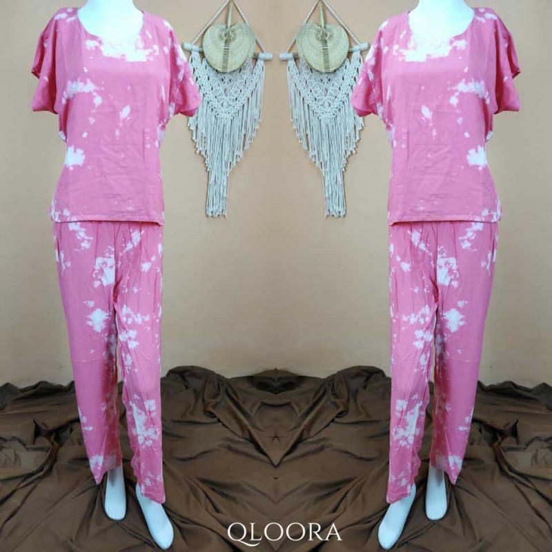 Piyama Celana Panjang Motif Tie-Dye