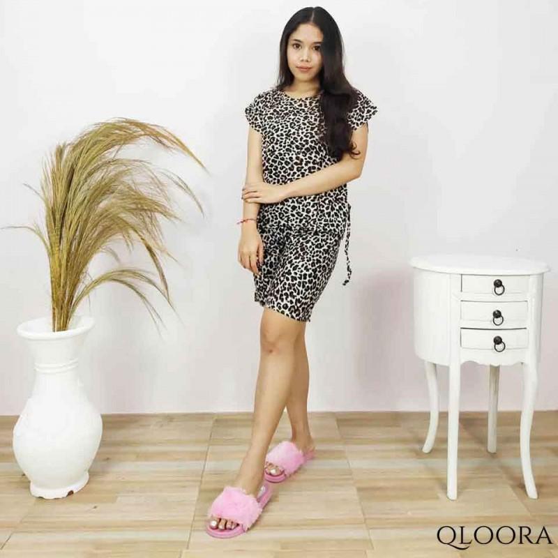 Piyama Wanita Motif Leopard