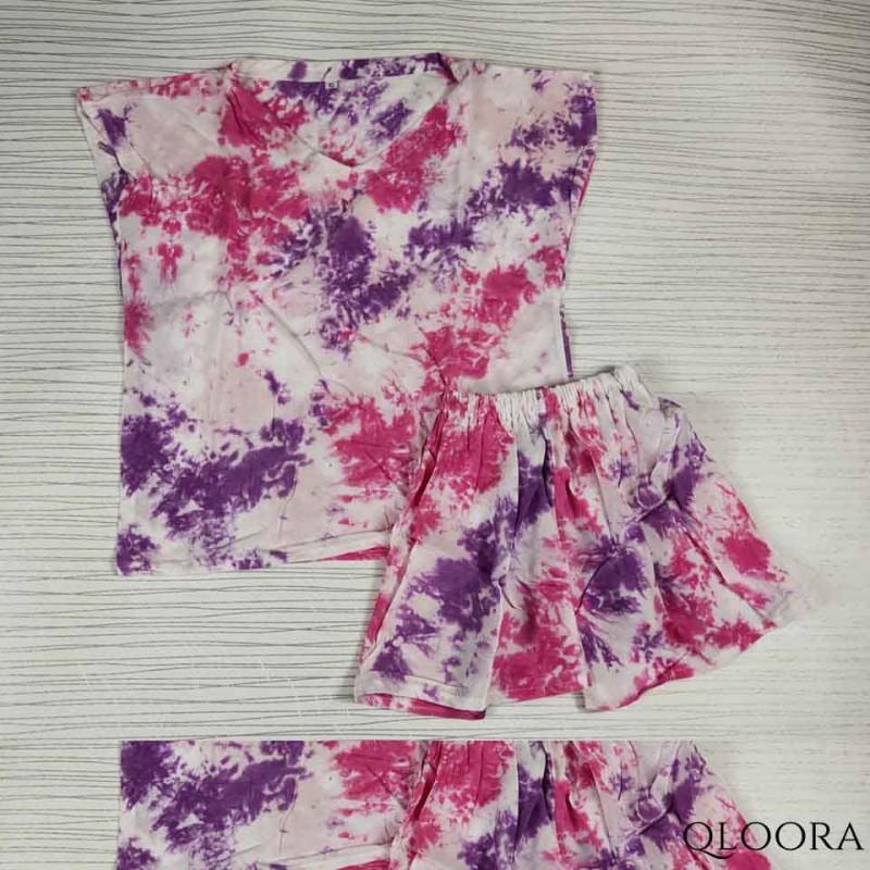 Setelan Baju Anak Perempuan Motif Tie Dye