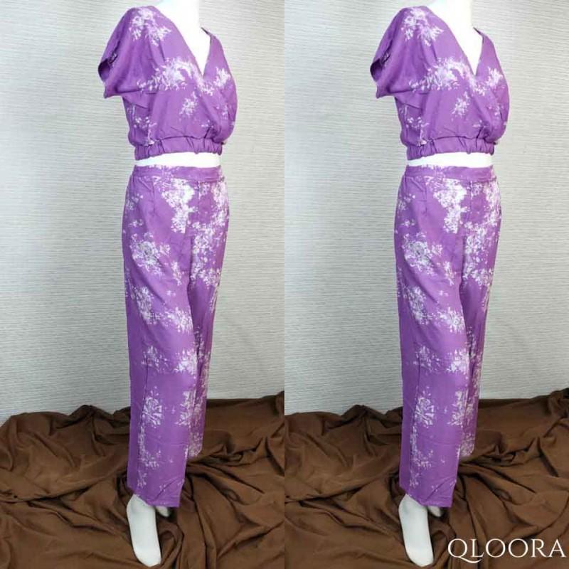 Setelan Baju Santai Wanita Murah Motif Tie Dye