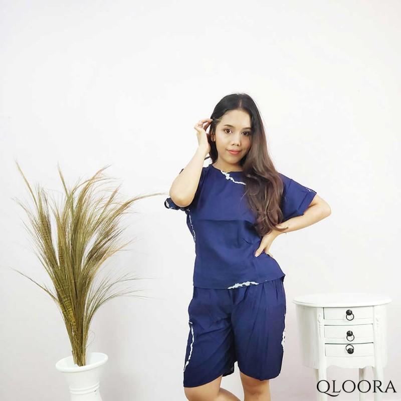 Shibori Pajamas Pendek Motif Shibori