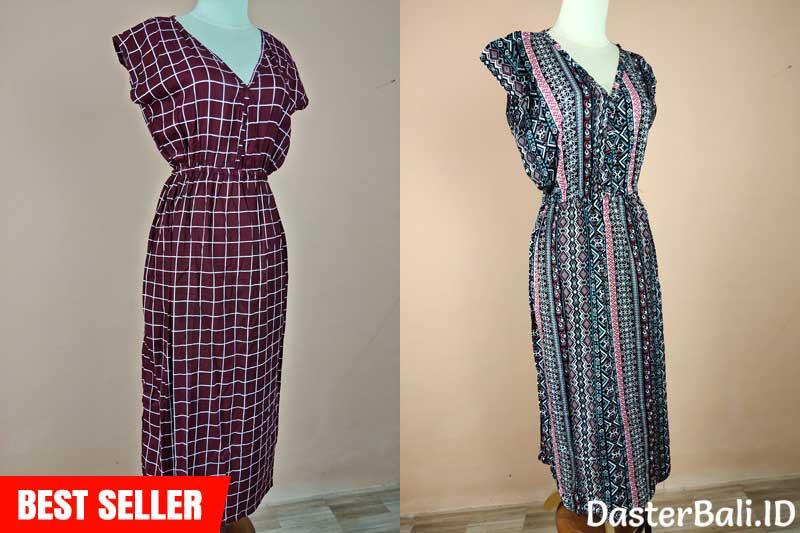 Daster Panjang (Long Dress) Dengan Motif Batik Yang Unik