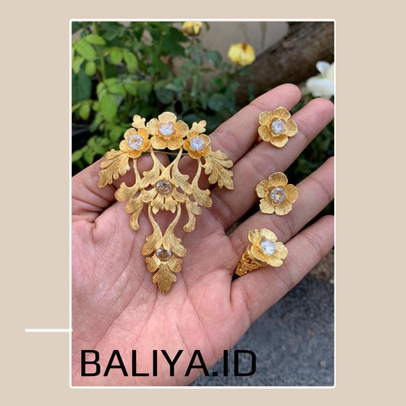 Bros Alpaka Bali Permata Warna Putih Bening