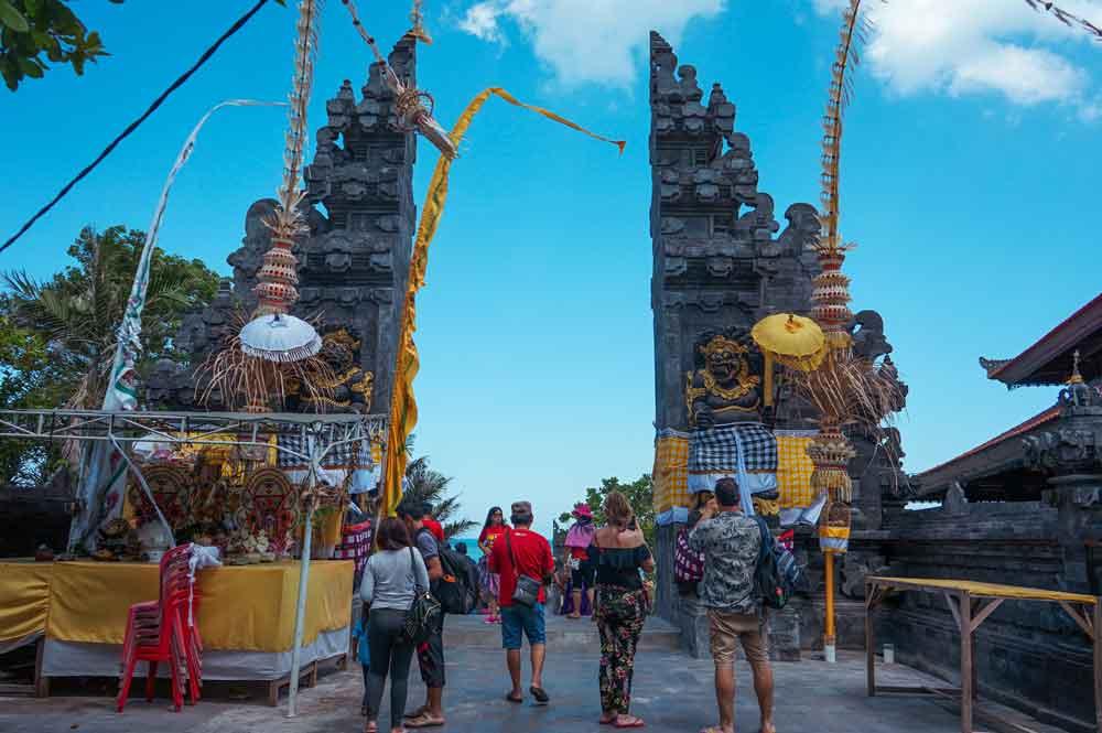Souvenir Shops at Tanah Lot Bali