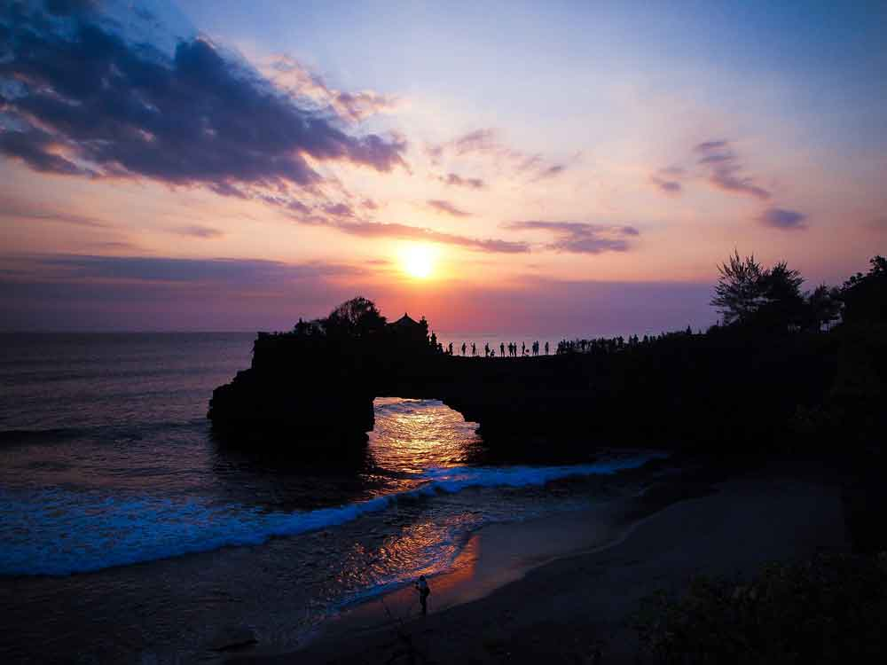 Fabulous Sunset in Tanah Lot Temple